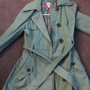 Lauren Conrad light blue/green trench coat